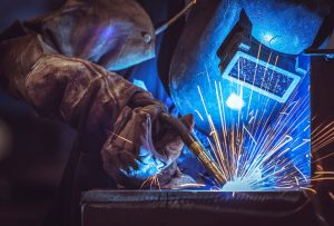 Welding Mask with Sparks