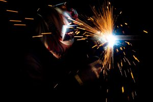 Welding with Mask in the Dark