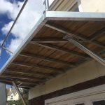 side view of steel balcony