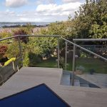 Bespoke Stainless Hand Rails on a furnished balcony
