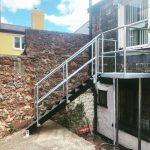 custom walkway, steps and balcony