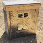 Steel box for machinery guarding