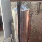 Bespoke welding on a deck divider