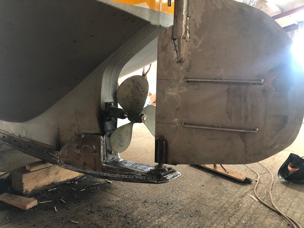 Bespoke Stern rudder by SM Engineering