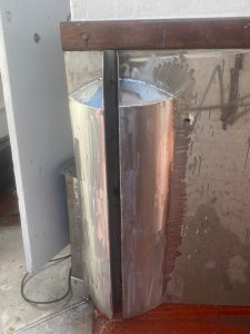 Bespoke welding on a deck divider