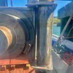 Vertical mounted gunnel roller