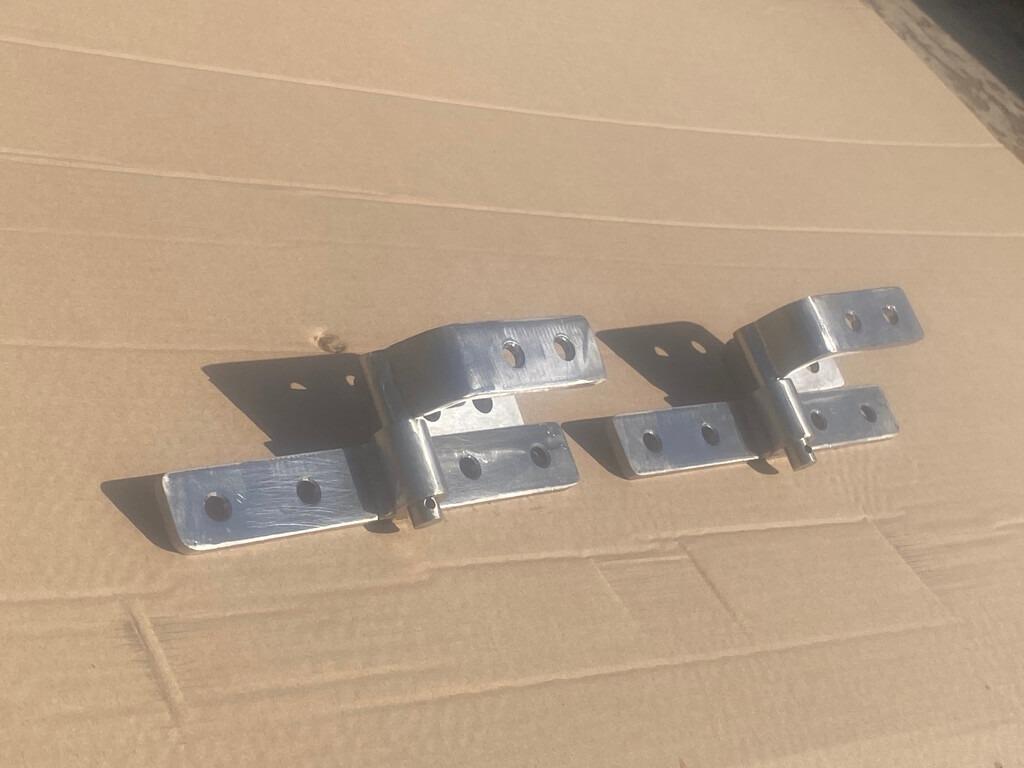 Close up shot of metal clasps