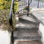 Custom powder coated hand rails