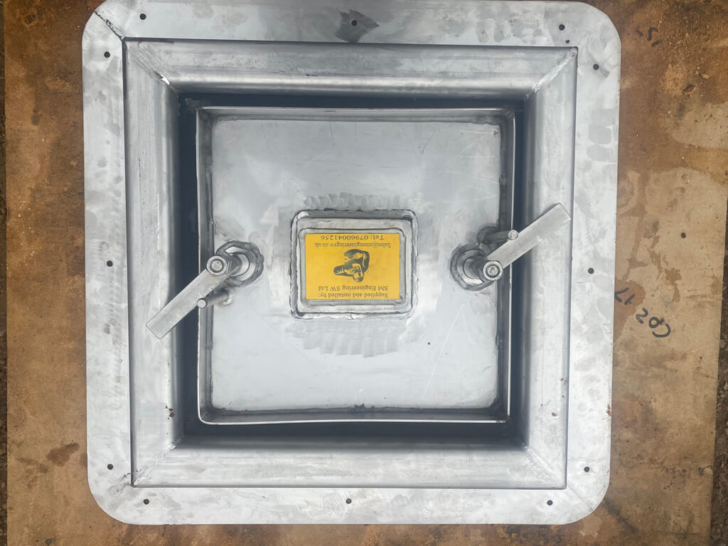 SM Engineering bespoke welded deck hatch