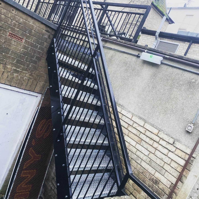 Commercial purpose built fire escape
