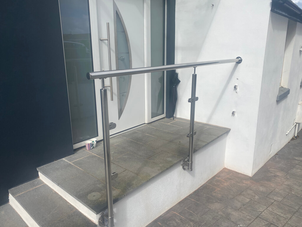 Bespoke hand rail frame