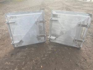 Two Stainless steel marine grade bulk head hatches