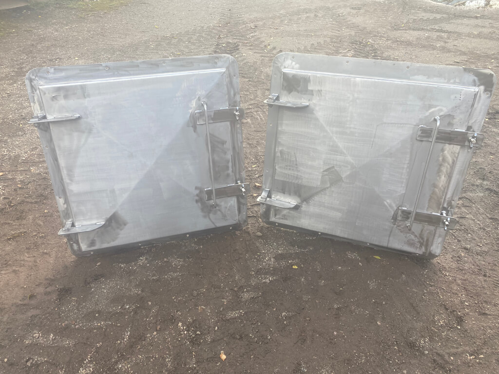 Two Stainless steel marine grade bulk head hatches